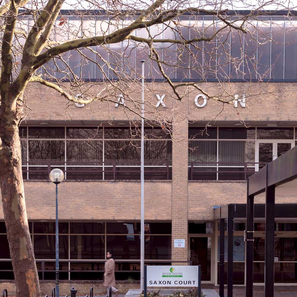 Saxon Court building in Central Milton Keynes