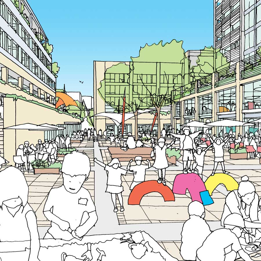 Proposed view of new public square