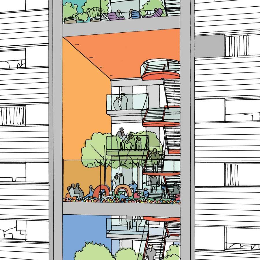 Proposed sky gardens